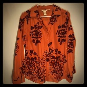 Sundance catalog cotton and velvet size M